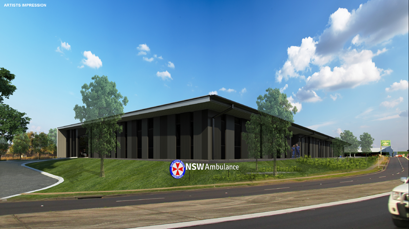 Penrith Ambulance superstation - Artist's Site
